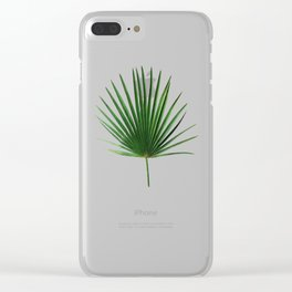 Simple Palm Leaf Geometry Clear iPhone Case