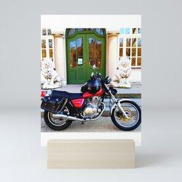 Motorbiketrip to the museum of the Bavarian Kings Mini Art Print