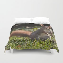 Do you have a nut - Cute squirrel animal on #Society6 Duvet Cover