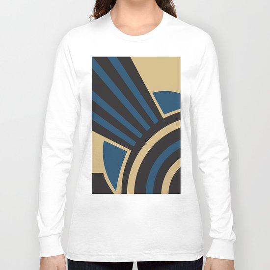 Art Deco Beautiful Life In Blue Long Sleeve T-shirt
