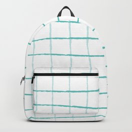 Blue Grid Wallpaper Backpack