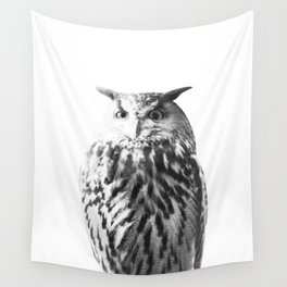Owl on White #1 #animal #decor #art #society6 Wall Tapestry