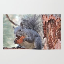 Squirrel Snack Rug