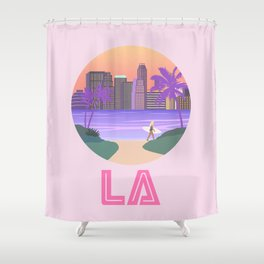 Los Angeles City Art Shower Curtain