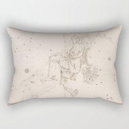 Johann Bayer - Uranometria / Measuring the Heavens (1661) - 11 Perseus Rectangular Pillow