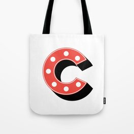 C Drop Cap Tote Bag