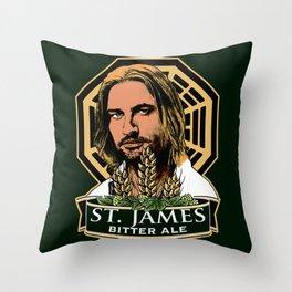 St. James Bitter Ale Throw Pillow
