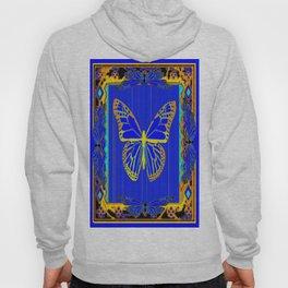Lapis Blue & Gold Monarch Western Art design Hoody