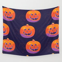 pumpkin with halloween Wall Tapestry