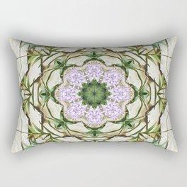 Orchids And Stone Wall Kaleidoscope 1764 Rectangular Pillow