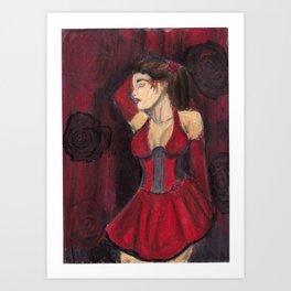 Rose Red Lovely Art Print