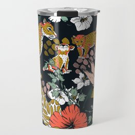 Animal print dark jungle Travel Mug