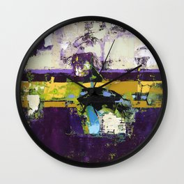 Controversy Prince Deep Purple Abstract Painting Modern Art Wall Clock