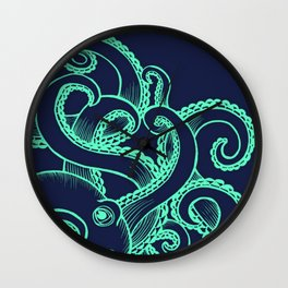 Octopus and the Deep Blue Sea Wall Clock