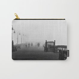 B&W Ventura pier on a foggy day Carry-All Pouch