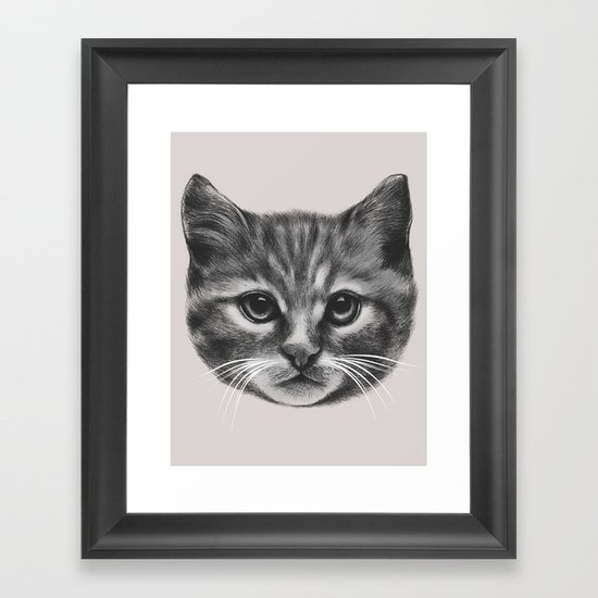 Everybody wants to be a Cat (MONOTONE) Framed Art Print