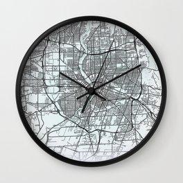 Rochester, NY, USA, White, City, Map Wall Clock