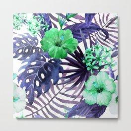 Watercolor botanical leaves Metal Print