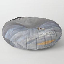 Suspended Between Worlds Floor Pillow