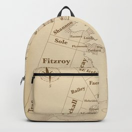 Vintage Style shipping forecast key Backpack