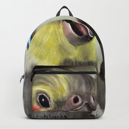 Chit Chat Cockatiel Painting Backpack