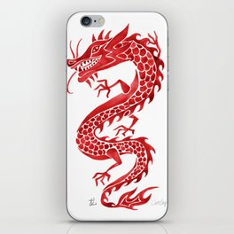 Chinese Dragon – Crimson Palette iPhone Skin