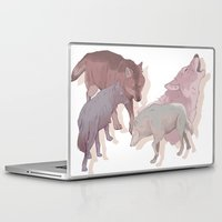 wolves Laptop & iPad Skins featuring wolves by Devon Busby Busbyart