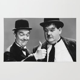 Mr Stan Laurel and Mr Oliver Hardy Rug