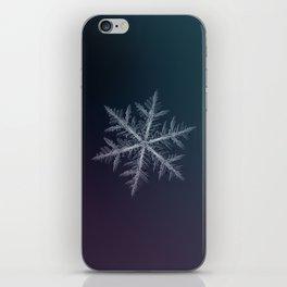 Real snowflake macro photo - Neon iPhone Skin