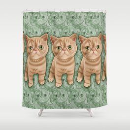 Mr Waffles Shower Curtain