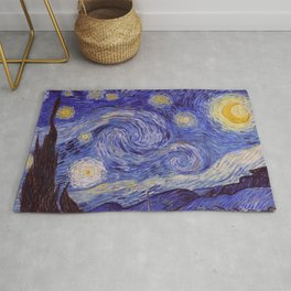 Vincent Van Gogh Starry Night Rug