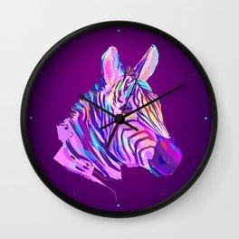 Neon Zebra Wall Clock