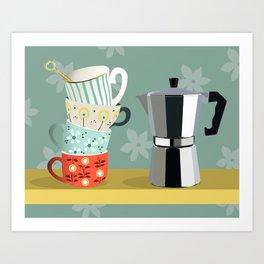 Coffee shelf Art Print