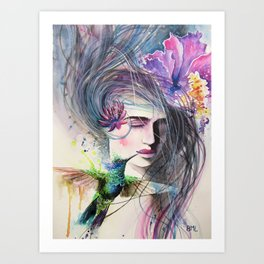 The Hummingbird Kiss Art Print