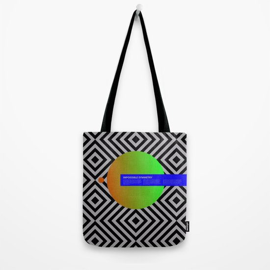 Impossible Symmetry - Circle Tote Bag