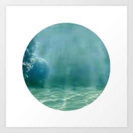 Under Water 1 Art Print