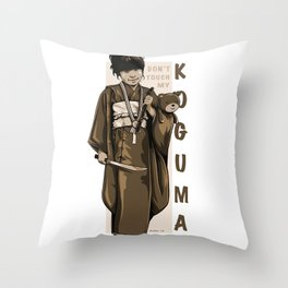 Don't Touch My KOGUMA Throw Pillow