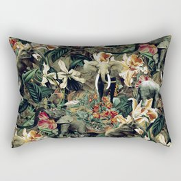 Elephants Camouflage Rectangular Pillow