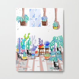 My Little Garden - illustration 2 Metal Print