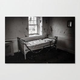 Abandoned Dorm Room - Black & White Canvas Print