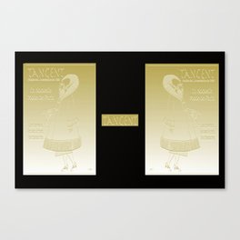 Tangent Metallic Gold Canvas Print
