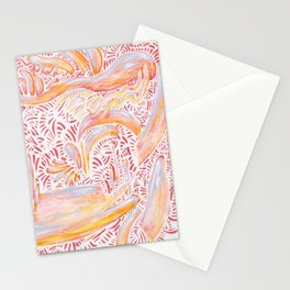 Homemade Macaroni Stationery Cards
