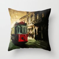 istanbul Throw Pillows featuring Istanbul by pinarinadresi