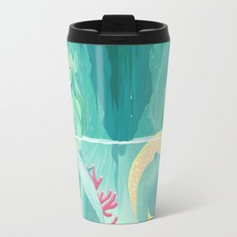 Mermaid and her pet Travel Mug