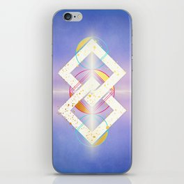 Linked Lilac Diamonds :: Floating Geometry iPhone Skin