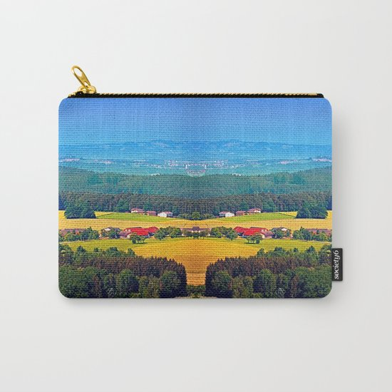 Summer scenery with lots of green and blue Carry-All Pouch