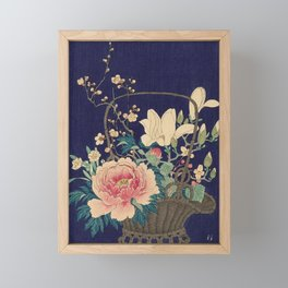 Bamboo Flowerbasket, Ohara Koson, 1932 Framed Mini Art Print