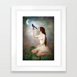 The Moon Asked The Crow Framed Art Print