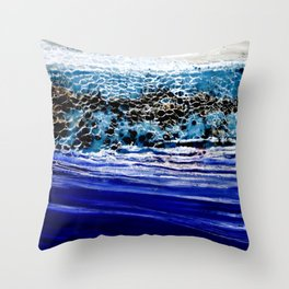 ...blurred line of horizons Throw Pillow