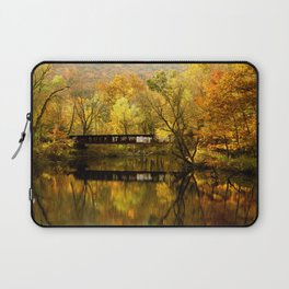 Golden Light Train Trestle Laptop Sleeve